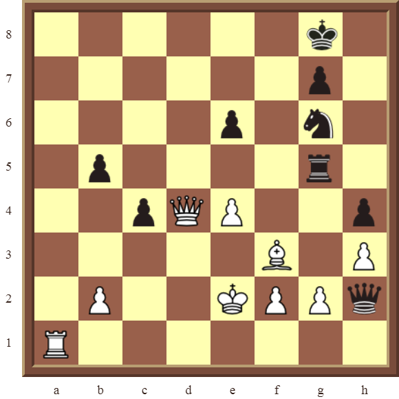 CHAPTER 4 OTHER FORKS/DOUBLE ATTACKS – Diagram 101  – White wins the black Rook in 2 moves.