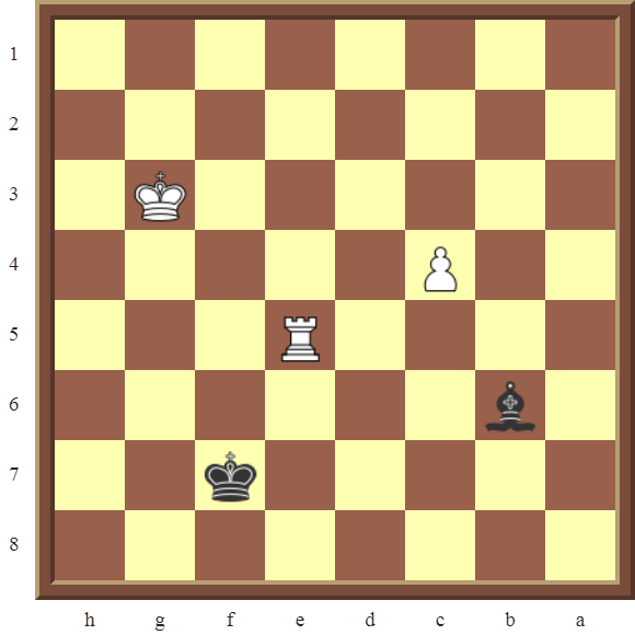Diagram 11 PINS – Black wins the white Rook in 3 moves.