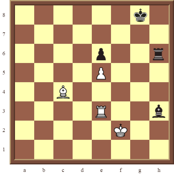 CHAPTER 4 OTHER FORKS/DOUBLE ATTACKS – Diagram 114  – White wins the black Pawn and the Bishop in 3 moves.