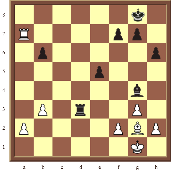 CHAPTER 4 OTHER FORKS/DOUBLE ATTACKS – Diagram 115  – White wins the black Rook in 3 moves.