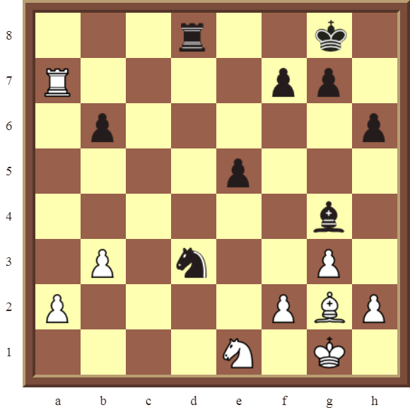 CHAPTER 4 OTHER FORKS/DOUBLE ATTACKS – Diagram 116  – White wins the black Rook in 4 moves.
