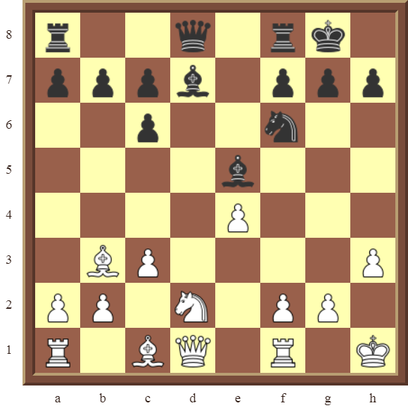 CHAPTER 4 OTHER FORKS/DOUBLE ATTACKS – Diagram 121  – White wins a black Bishop or Knight for a pawn in 3 moves.