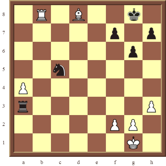 CHAPTER 5 DISCOVERED CHECKS – Diagram 130  – White checkmates in 1 move.