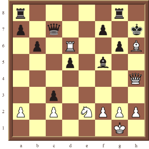 CHAPTER 5 DISCOVERED CHECKS – Diagram 131  – White checkmates in 1 move.