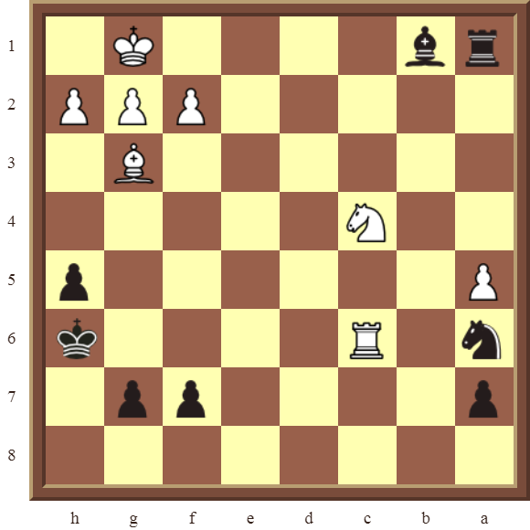CHAPTER 5 DISCOVERED CHECKS – Diagram 132  – Black checkmates in 1 move.