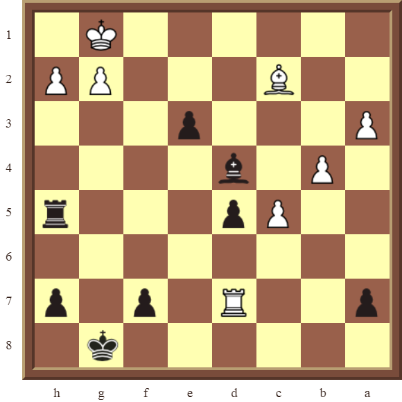 CHAPTER 5 DISCOVERED CHECKS Diagram 133 – Black checkmates in 2 moves.