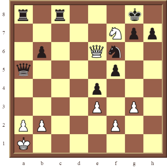CHAPTER 5 DISCOVERED CHECKS – Diagram 145 – White delivers a smothered checkmate in 3 moves.
