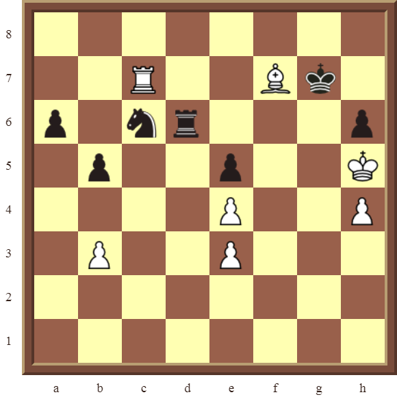 CHAPTER 5 DISCOVERED CHECKS – Diagram 148 – White wins the black Knight in 2 moves.