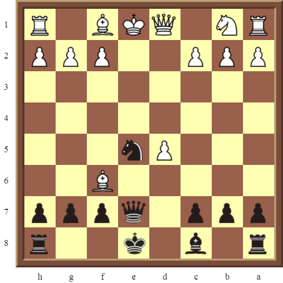 CHAPTER 6 DOUBLE CHECKS Diagram 161 – Black checkmates in 1 move!