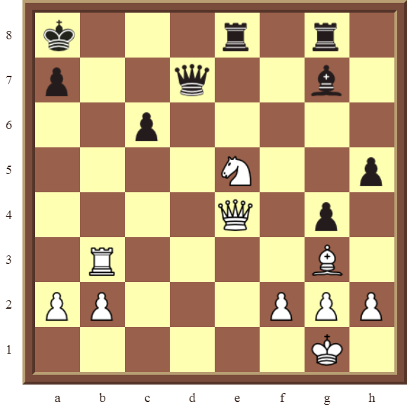 White to win the black Queen for a Rook in 2 moves