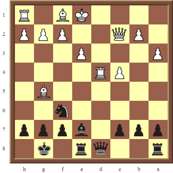CHAPTER 6 DOUBLE CHECKS Diagram 176 – Black wins a Rook in 1 move or checkmates in 3 moves!