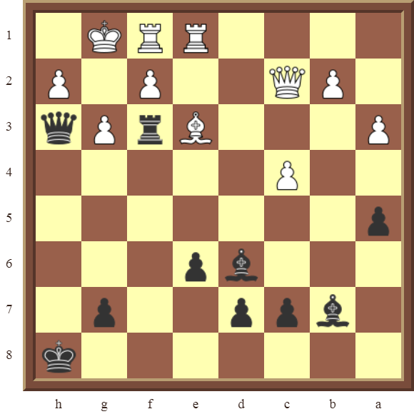 Black checkmates in 2 moves