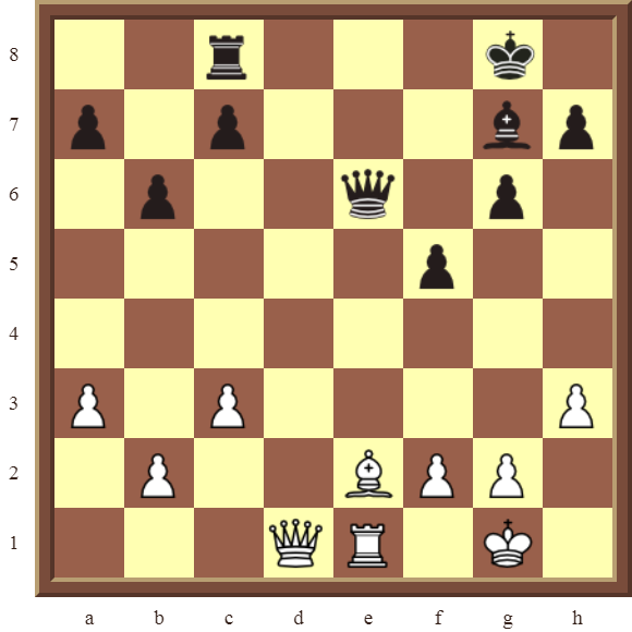 CHAPTER 7 DISCOVERED ATTACKS – Diagram 189  – White wins the black Rook in 2 moves.