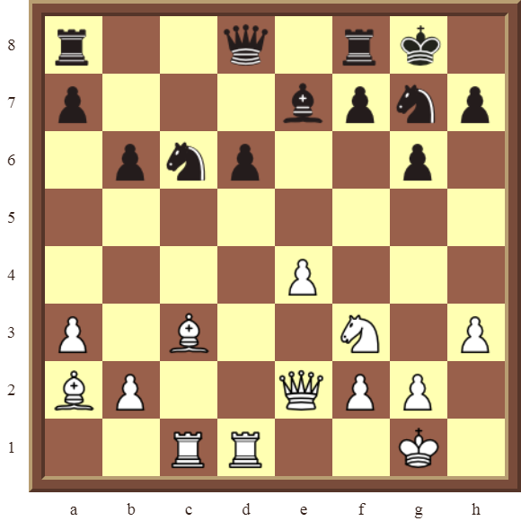 CHAPTER 7 DISCOVERED ATTACKS – Diagram 199  – White wins the black Knight on c6 in 2 moves.