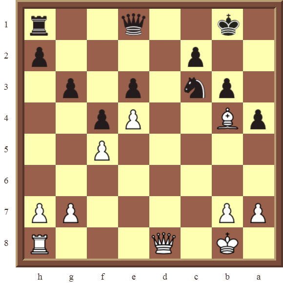White wins the black Knight in 3-moves
