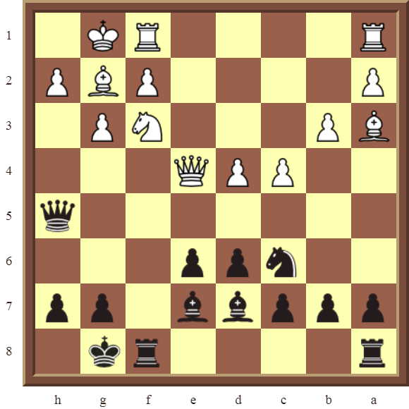 Black wins the white Bishop on a3 in 2 moves