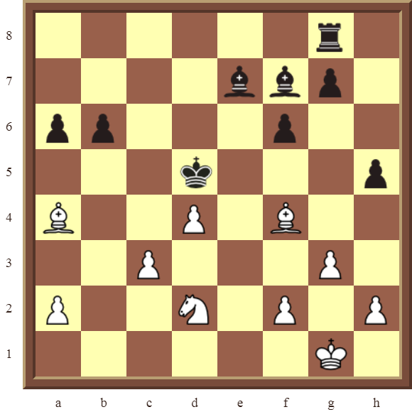 CHAPTER 8 SKEWERS – Diagram 224  – White wins a black Bishop in 2 moves.