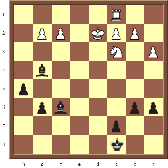 CHAPTER 8 SKEWERS – Diagram 225  – Black wins a white Rook in 2 moves.