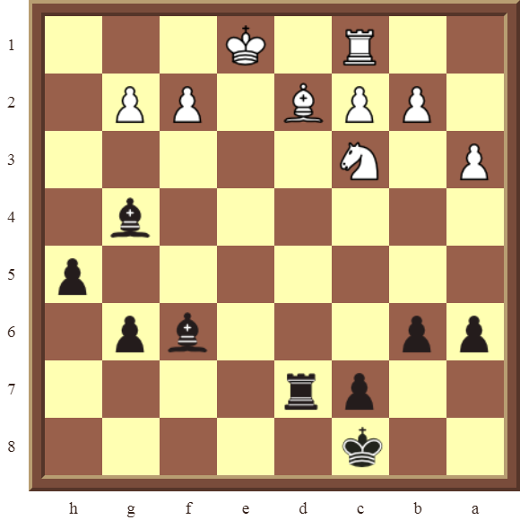 CHAPTER 8 SKEWERS – Diagram 226  – Black wins a Bishop in 3 moves.