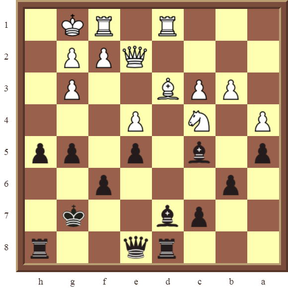 Black wins a white Rook for a Bishop in 2 moves