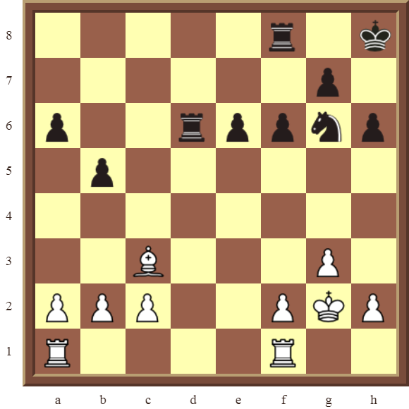 CHAPTER 8 SKEWERS – Diagram 235  – White wins a black Rook for a Bishop in 2 moves.