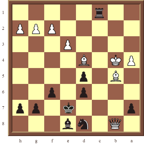 CHAPTER 8 SKEWERS – Diagram 244  – Black wins the white Queen in 3 moves.
