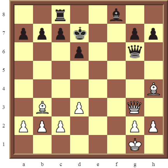 White wins the black Rook in 2 moves