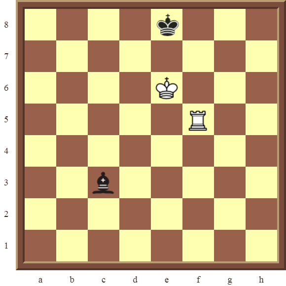CHAPTER 9 DOUBLE THREATS – Diagram 250  – White checkmates or wins the black Bishop in 2 moves.