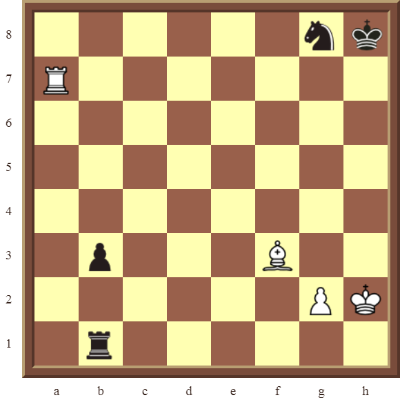 CHAPTER 9 DOUBLE THREATS – Diagram 251  – White checkmates or wins the black Rook in 2 moves.