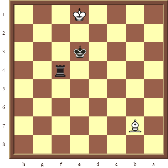 CHAPTER 9 DOUBLE THREATS Diagram 254 – Black checkmates or wins the Bishop in 2 moves.