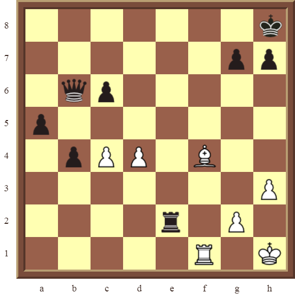 CHAPTER 9 DOUBLE THREATS – Diagram 255  – White checkmates or wins the black Queen in 2 moves.