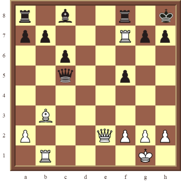 CHAPTER 9 DOUBLE THREATS – Diagram 257  – White checkmates or wins the black Queen for a Rook in 2 moves.