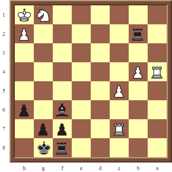 CHAPTER 9 DOUBLE THREATS – Diagram 260  – Black checkmates or wins the white Rook on c7 in 2 moves.