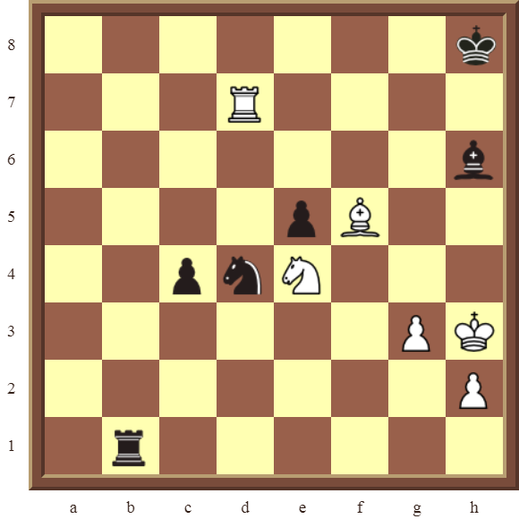CHAPTER 9 DOUBLE THREATS – Diagram 266  – White checkmates or wins the black Rook for a Knight in 2 moves.