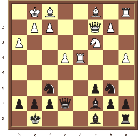 CHAPTER 9 DOUBLE THREATS – Diagram 270  – Black checkmates or wins a white Rook in 2 moves.