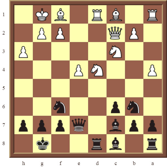 CHAPTER 9 DOUBLE THREATS – Diagram 271  – Black checkmates or wins a white Knight on d4 in 3 moves.