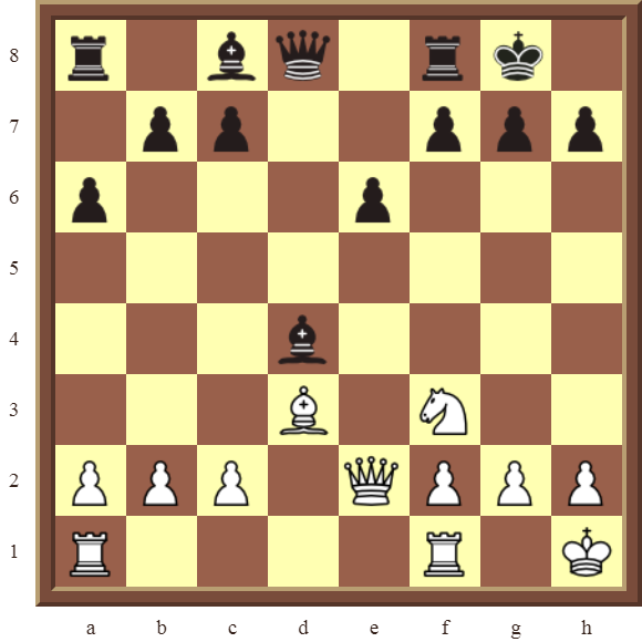 CHAPTER 9 DOUBLE THREATS – Diagram 272  – White checkmates or wins the black Bishop on d4 in 2 moves.