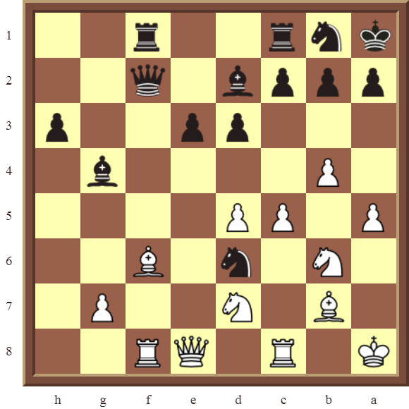 CHAPTER 9 DOUBLE THREATS – Diagram 275  – White checkmates or wins the black Knight on e3 in 2 moves.