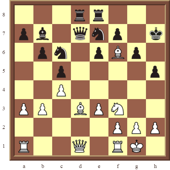 CHAPTER 9 DOUBLE THREATS – Diagram 279  – White checkmates in 3 moves or wins the black Queen for a Knight in 2 moves!