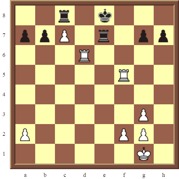 CHAPTER 10 PROMOTING PAWNS – Diagram 293 – White promotes the c-pawn to a Queen in 3 moves!