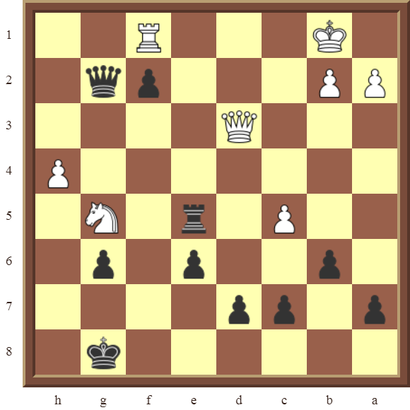 CHAPTER 10 PROMOTING PAWNS – Diagram 296 – Black promotes the f-pawn to a Queen in 3 moves!