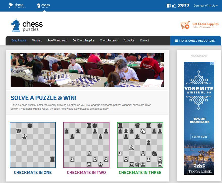 2977+ ChessPuzzles.com FB Likes