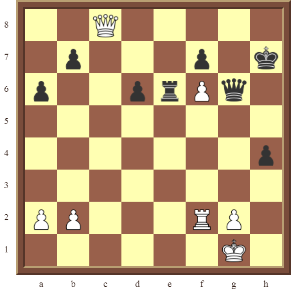 CHAPTER 10 PROMOTING PAWNS – Diagram 299 – White promotes the f-pawn to a Queen in 3 moves!