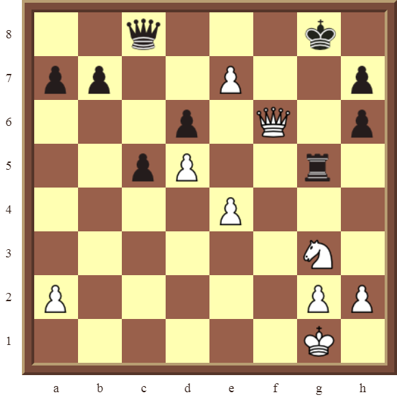 CHAPTER 10 PROMOTING PAWNS – Diagram 302 – White promotes the e-pawn to a Queen in 3 moves!
