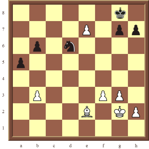 CHAPTER 10 PROMOTING PAWNS – Diagram 304 – White wins the black Knight for a pawn in 4 moves or checkmates in 2 moves!