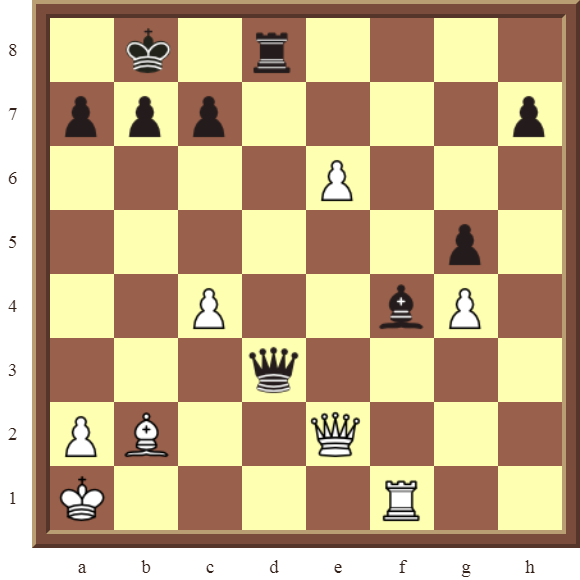 CHAPTER 10 PROMOTING PAWNS – Diagram 305 – White wins the black Rook or Queen in 2 moves!