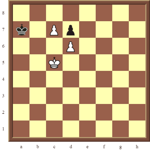 White avoids stalemate and comes out a Rook ahead in 1 move