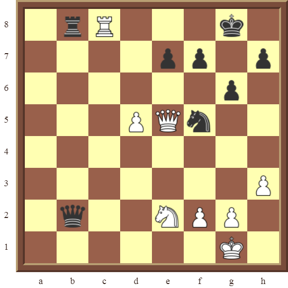 CHAPTER 11 REMOVING THE GUARD – INTRODUCTION: Diagram 311  – Name the white piece that captures the black Queen after black stops the check!