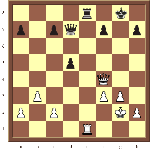 CHAPTER 11 REMOVING THE GUARD – Diagram 313 – White wins the black Rook in 3 moves!