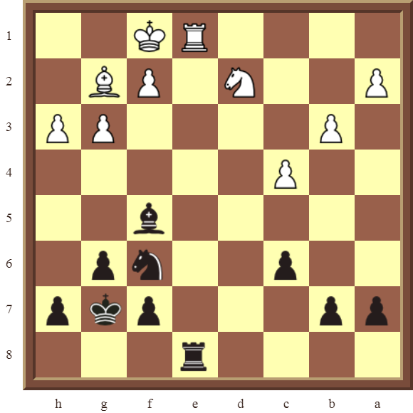 CHAPTER 11 REMOVING THE GUARD – Diagram 316 – Black wins the white Rook in 2 moves!